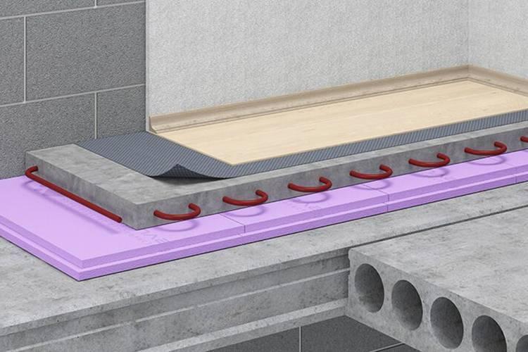 Утеплитель для пола по бетону под стяжку - пенопласт, керамзит, вата