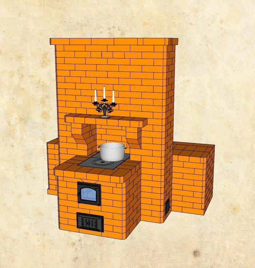 Маленькая кирпичная печь своими руками: как сделать небольшую малогабаритную печку из кирпича, порядовка мини-печи