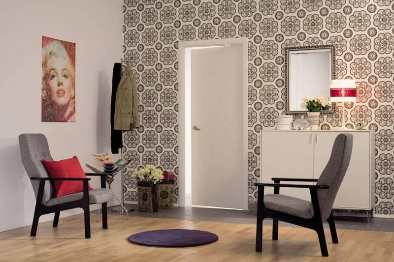 Комбинированные обои в прихожей (49 фото): дизайн коридора с комбинированием обоев в квартире. как красиво поклеить обои двух цветов?