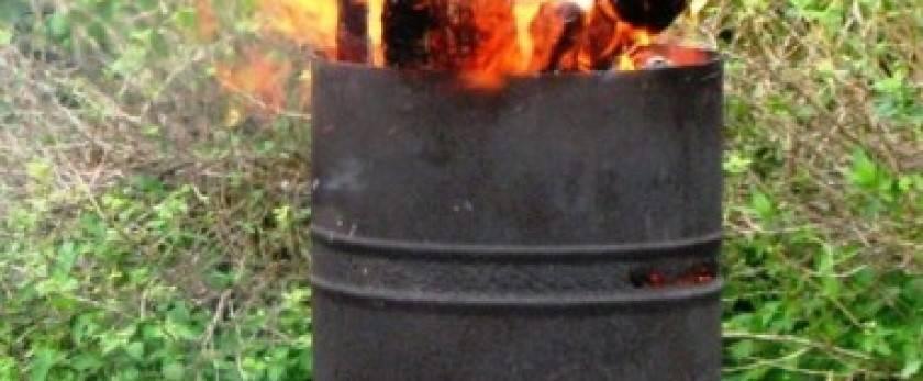 Печь для сжигания мусора на садовом или дачном участке