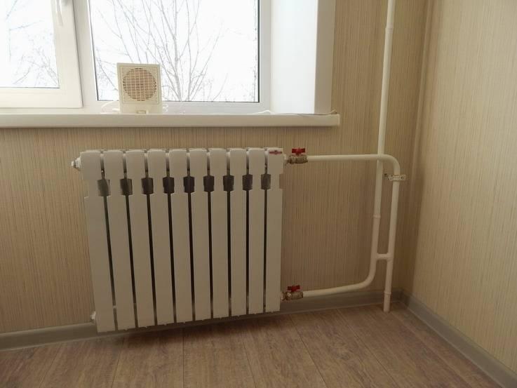 Нижний розлив системы отопления в многоквартирном доме