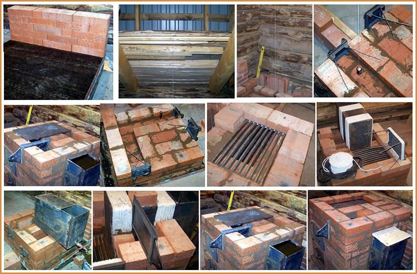 Печи из кирпича для дачи на дровах: порядовки, схемы, кладка своими руками