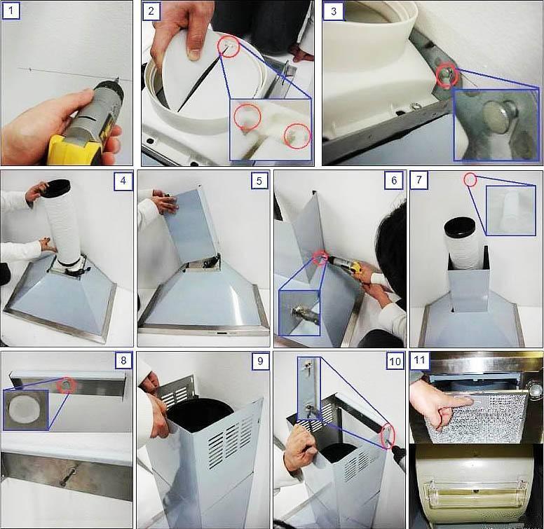 Установка вытяжки на кухне своими руками: процесс и этапы монтажа