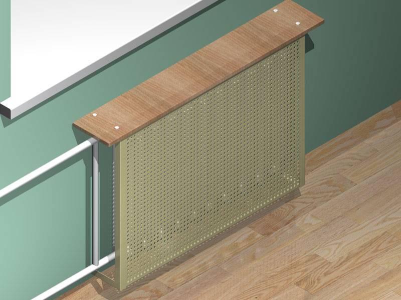 Декоративные экраны на радиаторы отопления - виды: деревянные, пластиковые, навесные, защитные, преимущества теплоотражающих конструкций