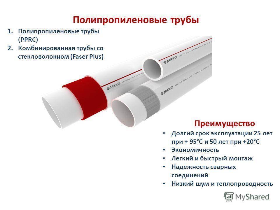 Диаметры, pn и другие характеристики полипропиленовых труб