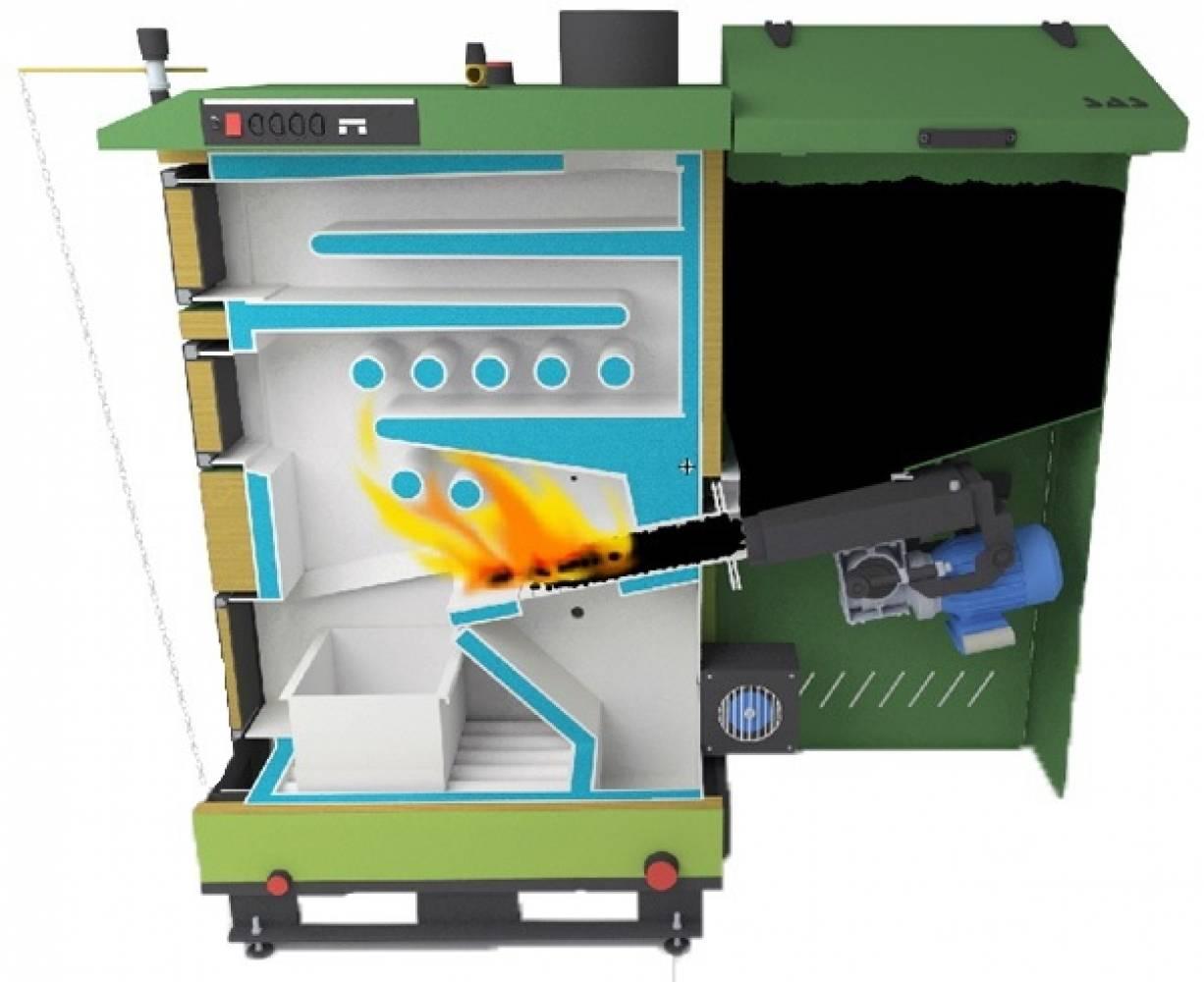 Твердотопливный и газовый котел в одной системе, схемы подключения