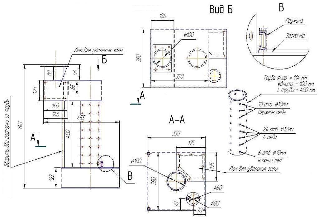 Печь на отработанном масле своими руками: схема постройки