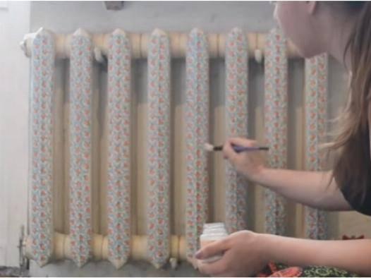Декупаж батареи отопления своими руками (фото и видео)