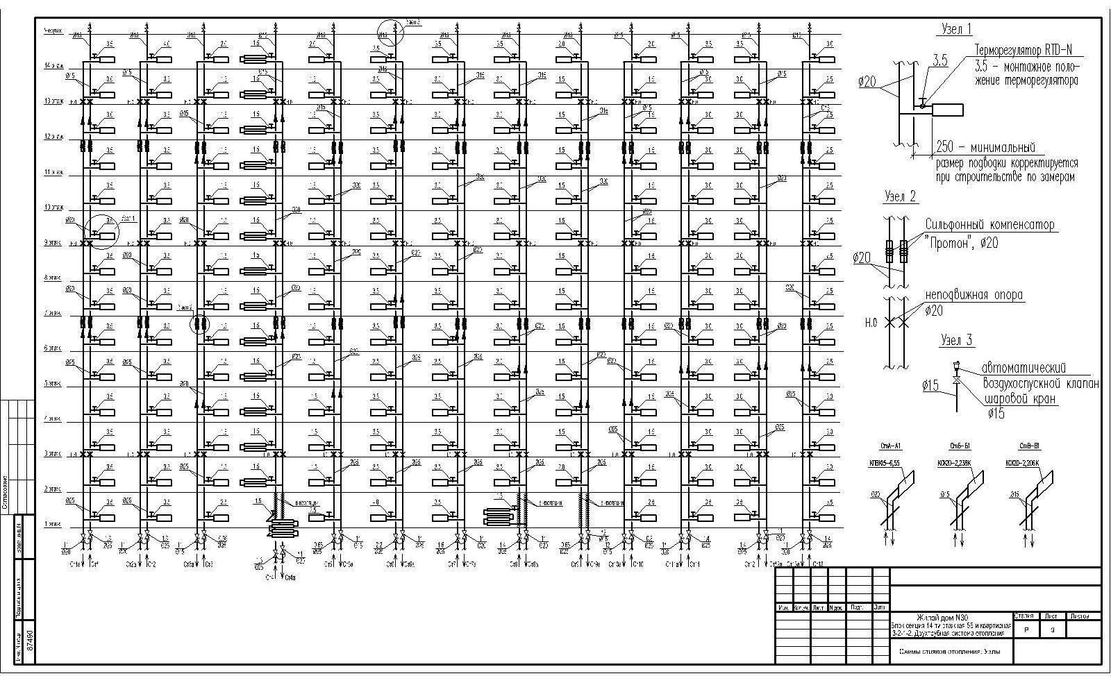 Схема отопления многоэтажного дома: схема подачи отопления в панельных высотных домах, система в стене, фото и видео примеры