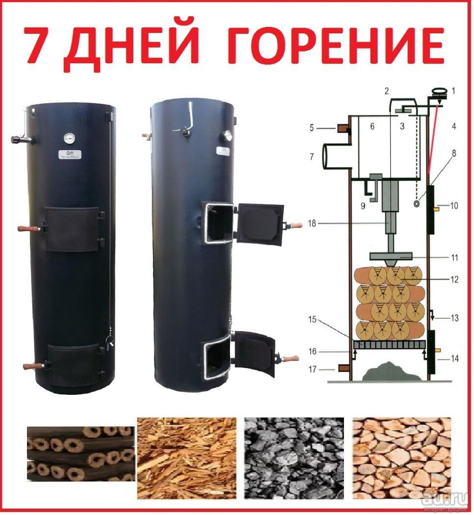 Твердотопливный котел длительного горения, устройство и выбор лучшего экономичного отопительного котла, подробнее на фото и видео