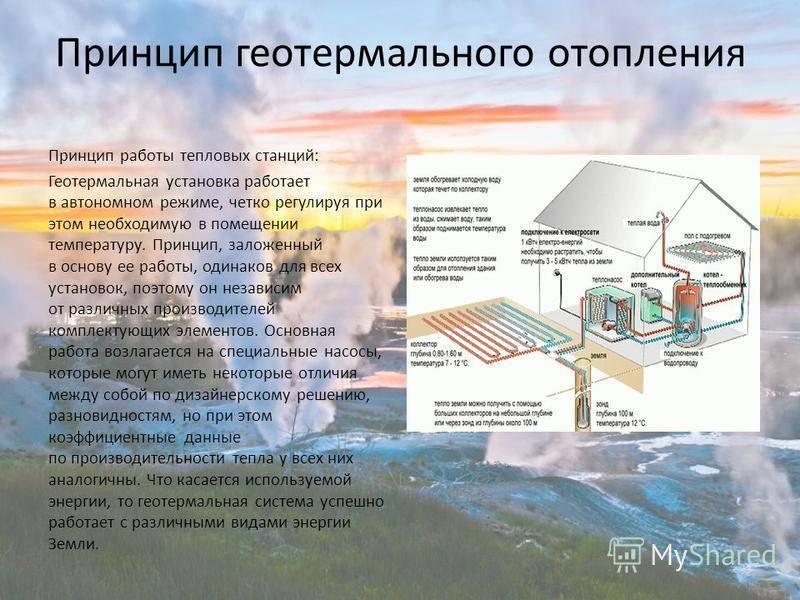 Геотермальные тепловые насосы для отопления дома и принцип их действия
