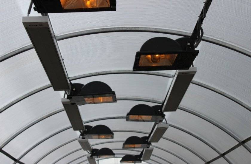Инфракрасная система отопления для теплицы