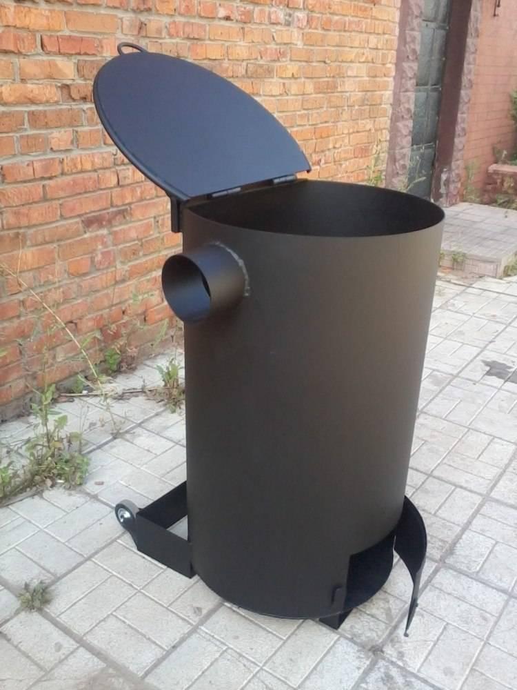 Как сделать дачную печь для сжигания мусора