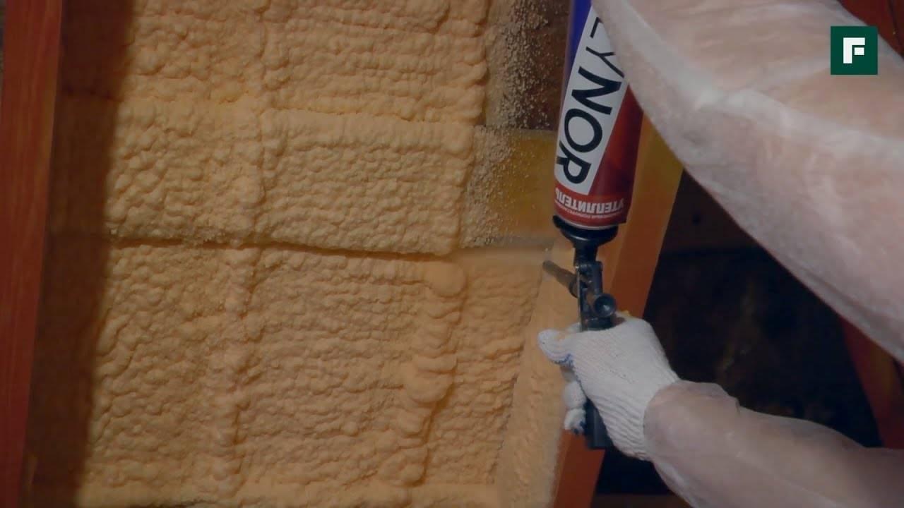 Напыление пенополиуретана: как своими руками нанести напыляемый материал, как пользоваться жидким составом в баллончиках