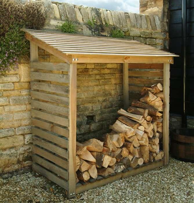 Дровницы для каминов и печей, решения для хранения дров дома