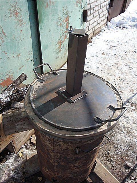 Как самому сделать печь на отработанном масле