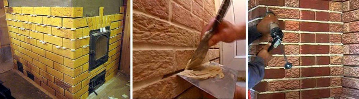 Как облицевать печь клинкерной плиткой?