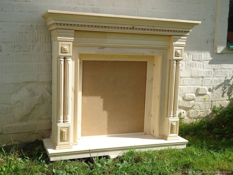 Портал для камина из дерева - украшаем конструкцию
