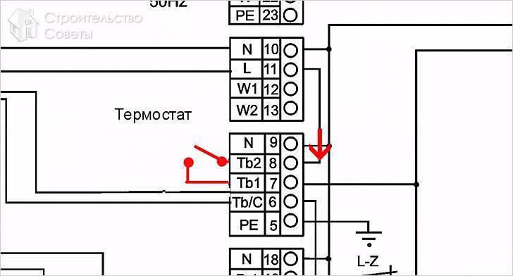 Схема подключения механического терморегулятора