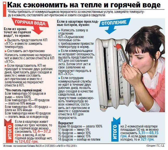 Какая должна быть норма температуры для батарей отопления в квартире?