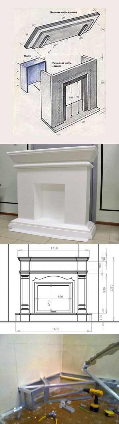 Как сделать камин из гипсокартона - 115 фото и подробная инструкция