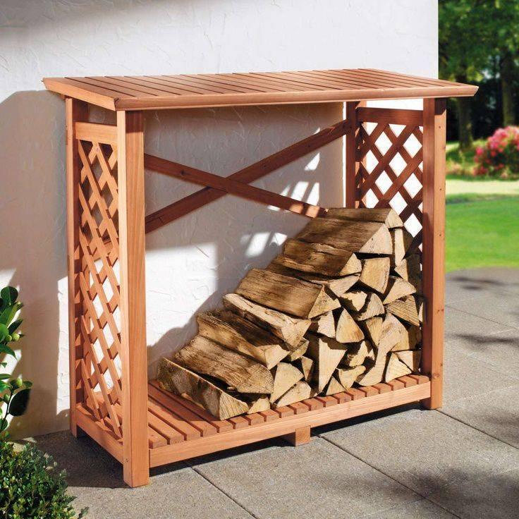 Дровница для камина, варианты декоративных приспособлений для дров