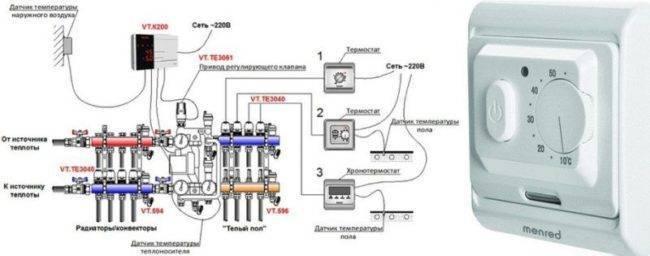 Датчик температуры для теплого пола: подключение и установка, монтаж, как подключить терморегулятор без датчика температуры, как установить, фото и видео