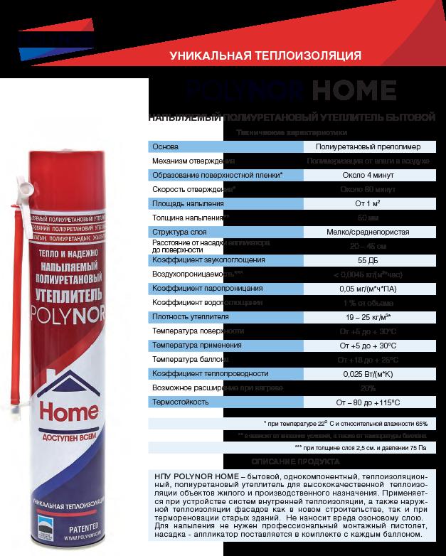 Утеплитель полинор: полиуретановый напыляемый polynor, технические характеристики