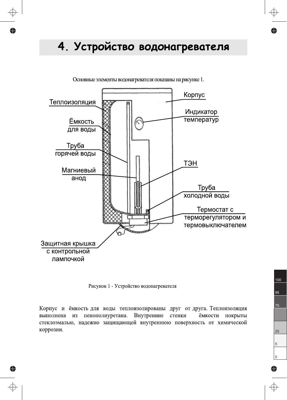 Проточный водонагреватель полярис
