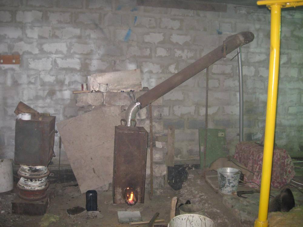 Делаем дымоход для буржуйки в гараже