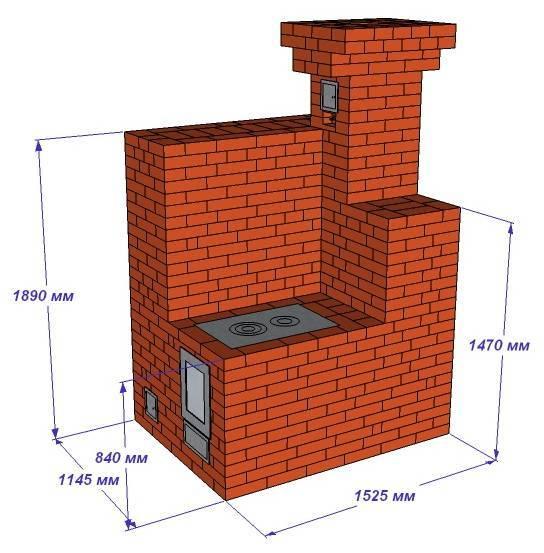 Сколько нужно кирпича на печь для дома - рассчитать расход кирпича