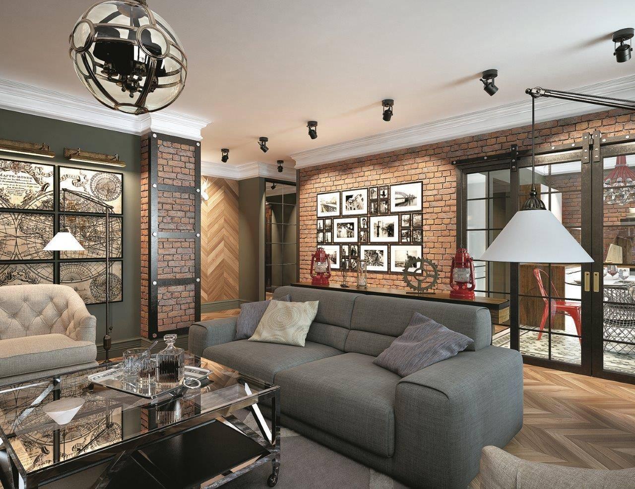 Гостиная в стиле лофт: функциональность и простота интерьера (+81 фото)