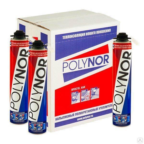 Напыляемый утеплитель марки polynor: преимущества использования, технология нанесения и цена