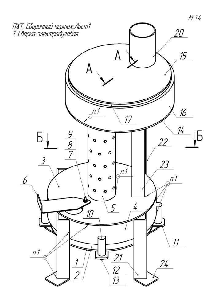 Как сделать печь на отработке капельного типа своими руками – пошаговое руководство