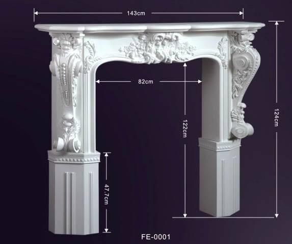 Как оформить декоративный портал для камина из полиуретана?