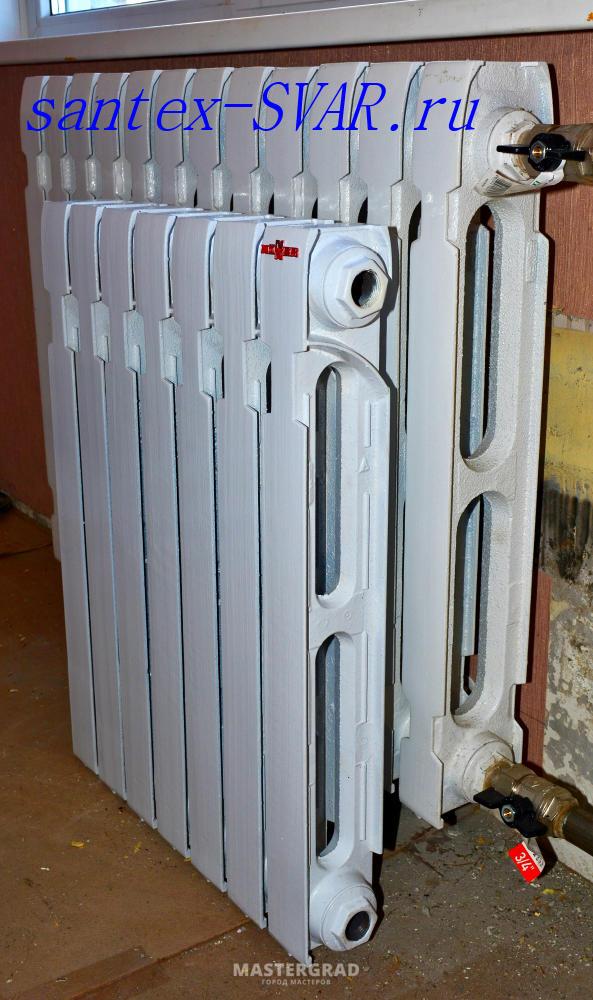 Чугунные радиаторы отопления – вес, размеры, теплоотдача батареи