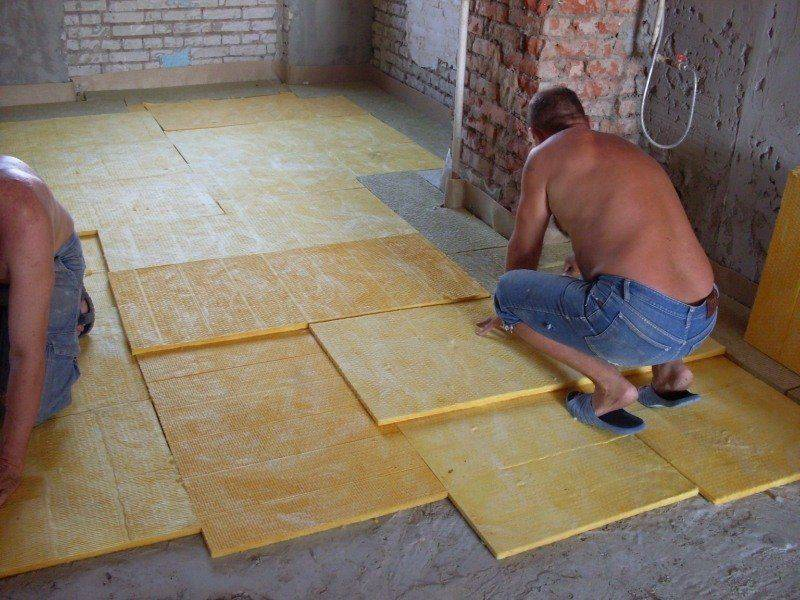 Утепление бетонного пола - технология пошагово!