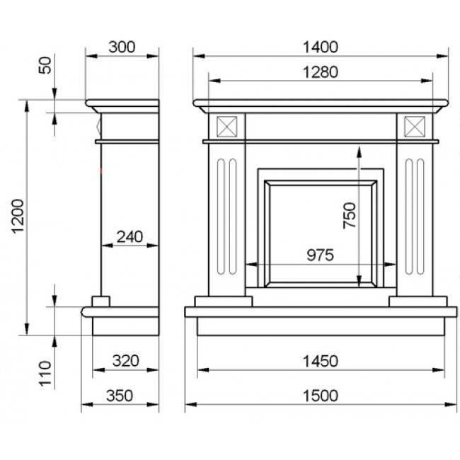 Декоративная имитация камина из гипсокартона: дизайн, строительство, видеоинструкция