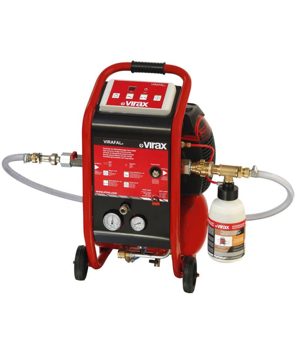 Оборудование для промывки систем отопления, компрессор, гидропромывка