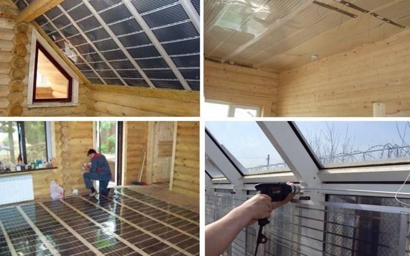Потолочное инфракрасное отопление: видео-инструкция по установке пленочных нагревателей, водяных панелей, фото