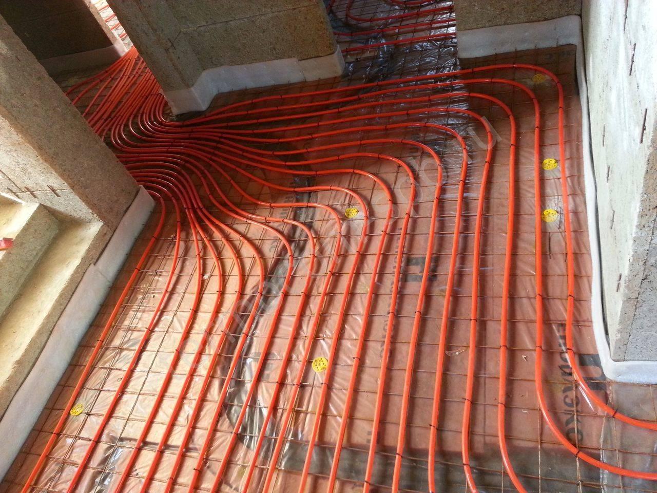 Водяной теплый пол в деревянном доме – устройство без стяжки