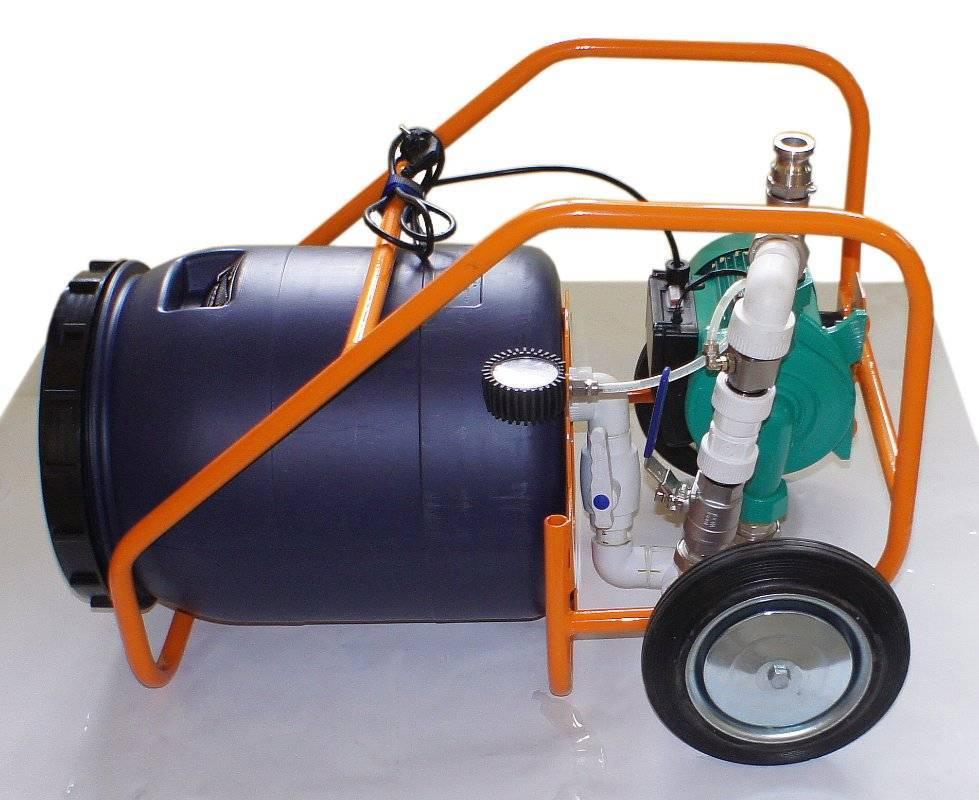 Продувка системы отопления компрессором