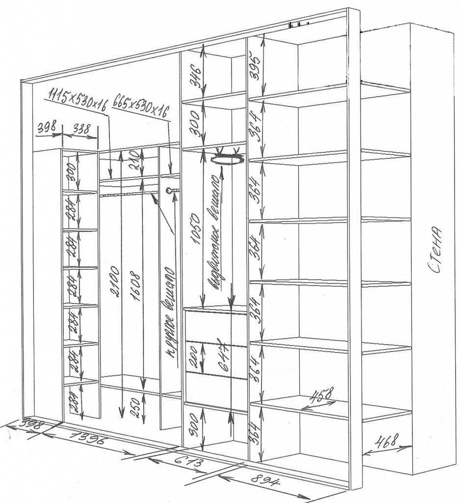 Как сделать шкаф в прихожую своими руками: пошаговое руководство