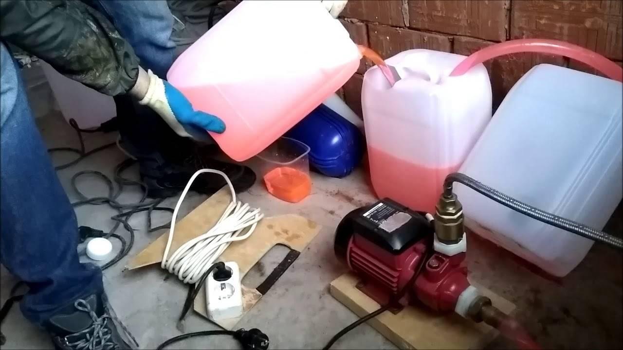 Сколько надо антифриза для системы отопления