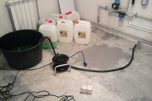 Как разводить антифриз для системы отопления?