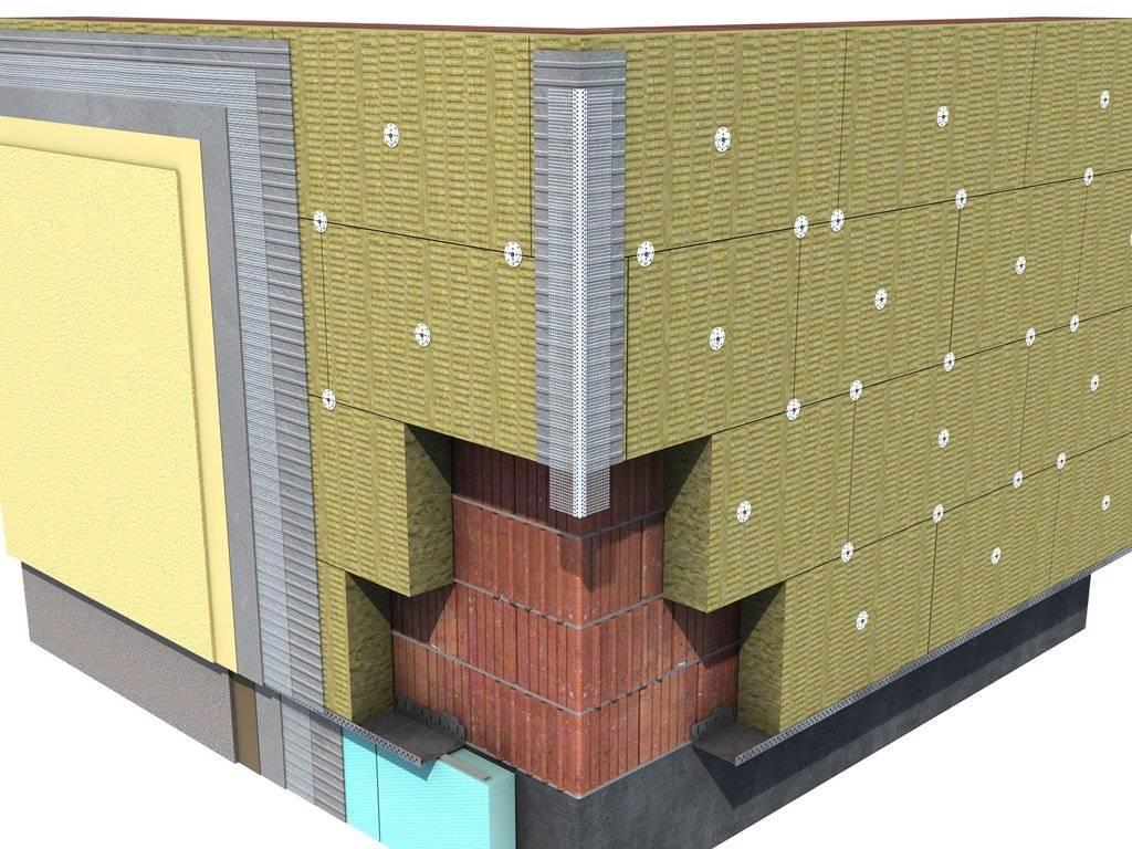 Технология утепления фасада под штукатурку