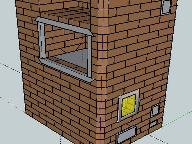 Печное отопление в частном деревянном двухэтажном доме, схема монтажа своими руками