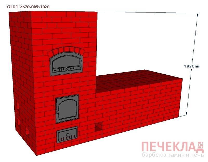 Русская печь своими руками: чертежи и порядовка (+фото)