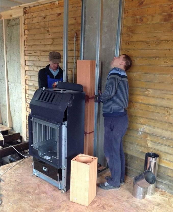Правильная установка печи в деревянном доме – пошаговое руководство