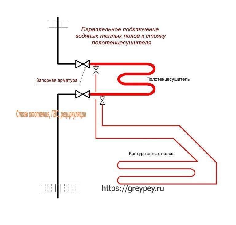 Как подключить теплый пол к системе отопления